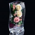 Живые цветы в стекле в вакууме